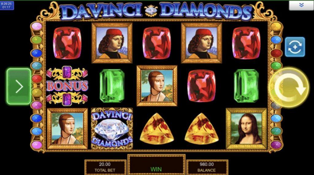 Da Vinci Diamonds-พนัน